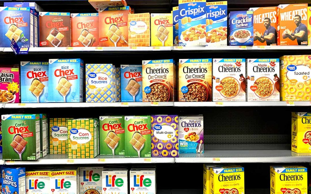 Volum, mida i pes (packaging dels cereals i cacau en pols)